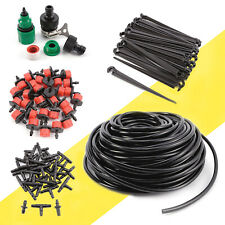 DIY IRRIGATION SYSTEM DRIP PIPE 25M GARDEN WATERING KIT w/ 30 DRIPPERS
