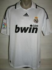 REAL MADRID 2008-09 HOME SHIRT ADIDAS JERSEY SIZE M