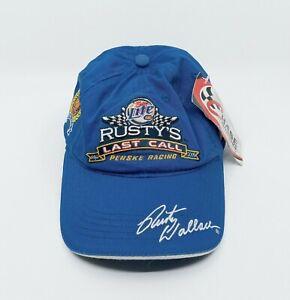 Miller Lite Rusty's Last Call Machine Signed Penske Racing Hat - NWT