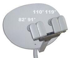 "24 "" ELLIPTICAL OVAL DISH 110/119/91/82/129 SATELLITE +4 LNB HD NETWORK FTA BELL"