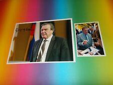 Gerhard Schröder Bundeskanzler signiert signed Autogramm a. 20x28 Foto in person