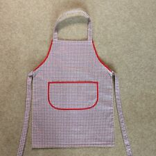 Childs Gift Cooking Craft  Fabric  Apron Approx Age 7-9 Red Check