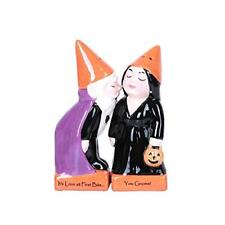 Halloween Gnome Couple Trick or Treat Magnetic Ceramic Salt Pepper Shakers