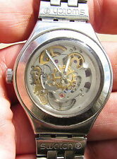 SWATCH IRONY AUTOMATIC MEN'S STAINLESS STEEL WRISTWATCH---WORKING!!!