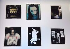 "MARILYN MANSON  5"" VINYL (6) STICKER LOT / DECALS Cheap NEW! Metal"