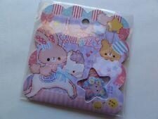 Q-Lia Rabbit Bear Flake Sack Sticker Secret Magic Night journal planner gift
