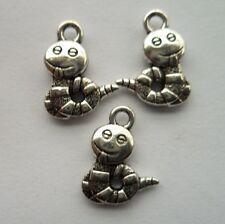100pcs Tibetan silver animal snake charms alloy pendant 16x12 mm