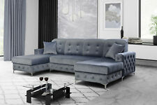 Chesterfield Ecksofa Paros U-Form Antik Polstersofa mit Schlaffunktion Retro 17