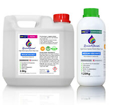 Clear Epoxy Resin Medium Viscosity Non-toxic UV Resin4Decor, 3.75Kg (1gal)