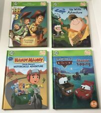 Leap Frog Tag Books Lot Of 4 Including Handy Manny Disney Pixar Cars & Toy Story