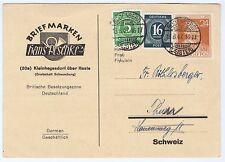 All.Bes./Gemeinsch.Ausg.Mi. 963 u.a., Rodenberg/Deister, 13.8.47 - Schweiz, 45 P