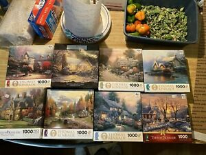 Lot of 8 Thomas Kinkade 1000 Piece Puzzles NEW  Ceaco
