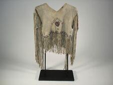 Northern California Beaded Deer Hide Shirt, Native American Indian, circa:1915