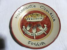 RISTORANTE CICOLELLA Piatto Buon Ricordo Ceramica