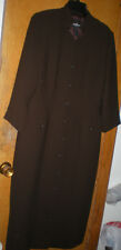 Positive Attitude Brown Button Front Dress 3/4 Sleeves Size 14