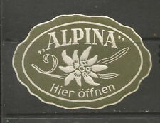 ALPINA advertising stamp/label (German text)