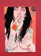 "Sticker Aufkleber ""Tattoo Girl Naked Smoking""Stickerbomb Laptop Skateboard"
