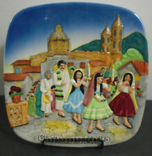Vtg John Beswick Limited Royal Doulton Group 1973 Christmas In Mexico Plate