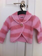 Next Pink Stripe Knitted Cardigan  Age 18-24 Months New With Tags Rrp£12.99