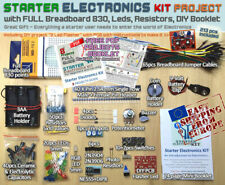 Starter Electronic Kit Project FULL 830 Breadboard, [DIY PCB, LEDs, Resistors]EU