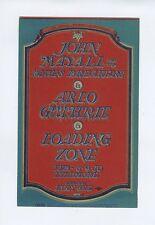 Bill Graham 106 Postcard John Mayall Arlo Guthrie 1968 Feb 8