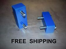 """84-01 Jeep Cherokee XJ  1"""" Hood lift spacer poly-BLUE  overheating ? try this"""