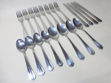 20 Piece Paderno Green Park 18/10 4 Setting Stainless Flatware - Cutlery