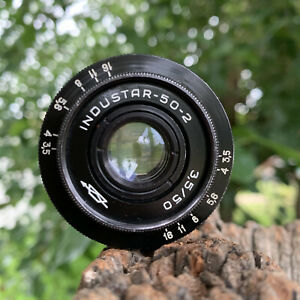 Industar 50-2 50mm f3.5 Soviet Russian Era Portrait Lens M42 Mount Swirly Bokeh