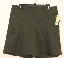 """Kim Rogers Shannon Misses 7"""" Shorts Army Olive Size 14 Average NWT"""