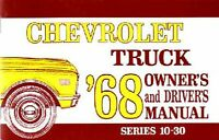 OEM Maintenance Owner's Manual Bound for Chevy Truck 10-30 Series 1968