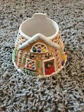 Yankee Candle Large Gingerbread Candy Cottage House Shade Topper Christmas