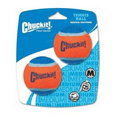 Chuckit Dog Tennis Ball Medium 6.5cm 2 Pack Durable Rubber Bounce Fetch Toy