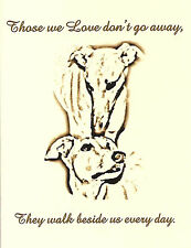 Two Dogs Sympathy Cards with Envelopes - Greyhounds or Whippets, set of 4
