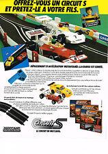 PUBLICITE ADVERTISING  1979    MECCANO  jeux jouets  CIRCUIT S