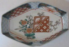 Antique Japanese Hand Painted Porcelain Imari Boat Shape Dish plate 1900-1940
