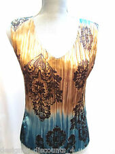 Jaipur shirt artsy organ pleated stretch Occasion Evening Top Blouse size S