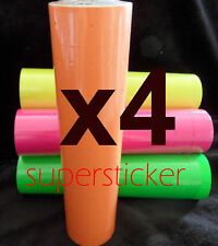 40 Roll X 500 Tags labels Refill for Price Gun Orange