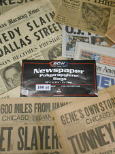New!  Acid Free Newspaper Sleeves SAFE  Archival Bags 100ct