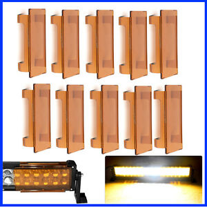 """10X 6'' Amber Protective Cover for Offroad LED Light Bar 12"""" 24"""" 32"""" 42"""" 50"""""""