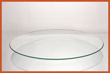 """13"""" Round Clear """"BENT"""" Glass Plate  1/8"""