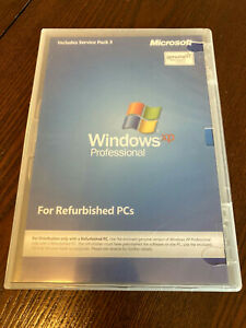 Microsoft WINDOWS XP PRO Professional SP3 no CD key Excellent Used Condition EUC