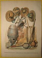 ca.1880 print IMPLEMENTS OF MANDINKA PEOPLE, FRENCH WEST AFRICA (#12)