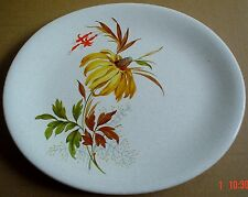 Grindley Steak Plate Or Small Platter Grey Speckled With Yellow Flower Leaves