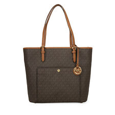 Michael Kors Monogram  Jet Set Travel Logo Tote - Brown