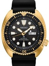 NEW SEIKO PROSPEX TURTLE AUTOMATIC DIVER 45MM GOLD PLATED CASE SRPC44