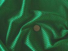 Eyelet Airtex Sports Mesh Fabric - Emerald Green - Lining & Sportswear