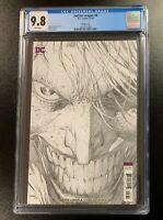 9.8 CGC Justice League #8 1:100 Jim Lee Joker Sketch Variant DC Comics 2018