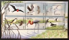 LIBERIA SEA BIRDS STAMPS SHEET 6V MNH EGRET CUCKOO TERN OSPREY NATURE WILDLIFE