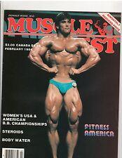 MUSCLE DIGEST bodybuilding magazine/Jeff King/Georgia Fudge/Calta poster 2-84