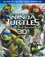 Teenage Mutant Ninja Turtles: Out Of The Shadows [New Blu-ray 3D] With Blu-Ray